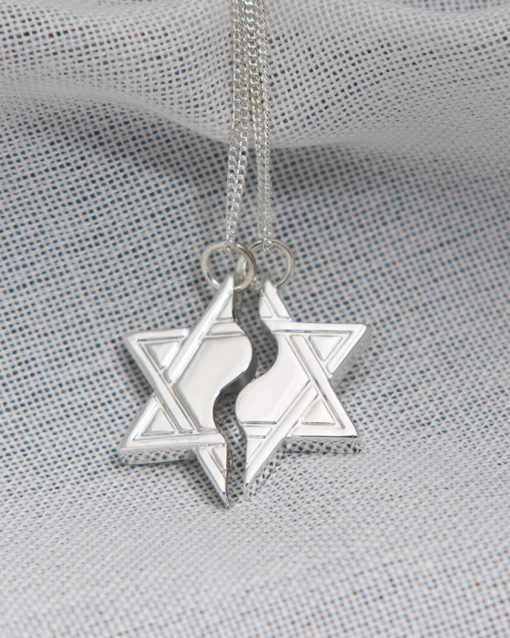 Star of David Mizpah Necklace